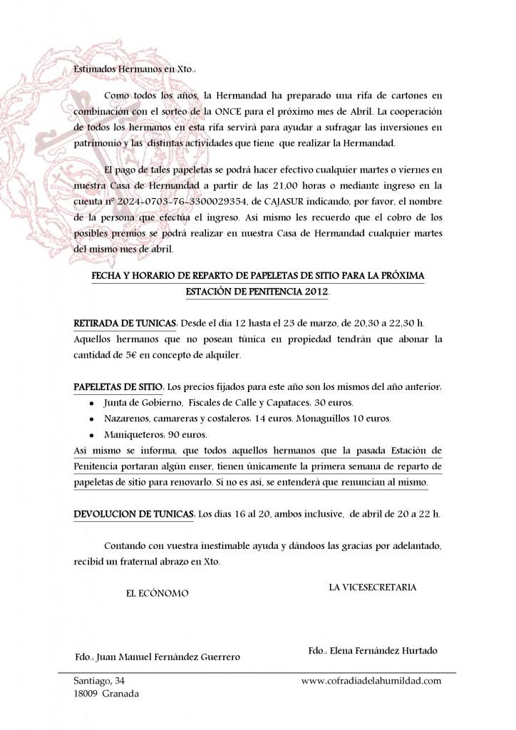 Carta Cabildo Cultos y Salida 2012 (2)
