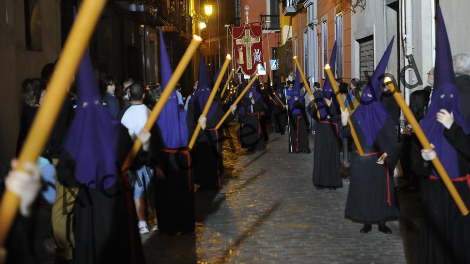 Tramo de nazarenos de regreso a Santo Domingo