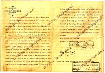 Licencia y autorización Arzobispal de la Fundación de la Cofradía, firmada el 15 de marzo de 1926.