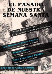 """Mesa Redonda """"El pasado de nuestra Semana Santa"""""""