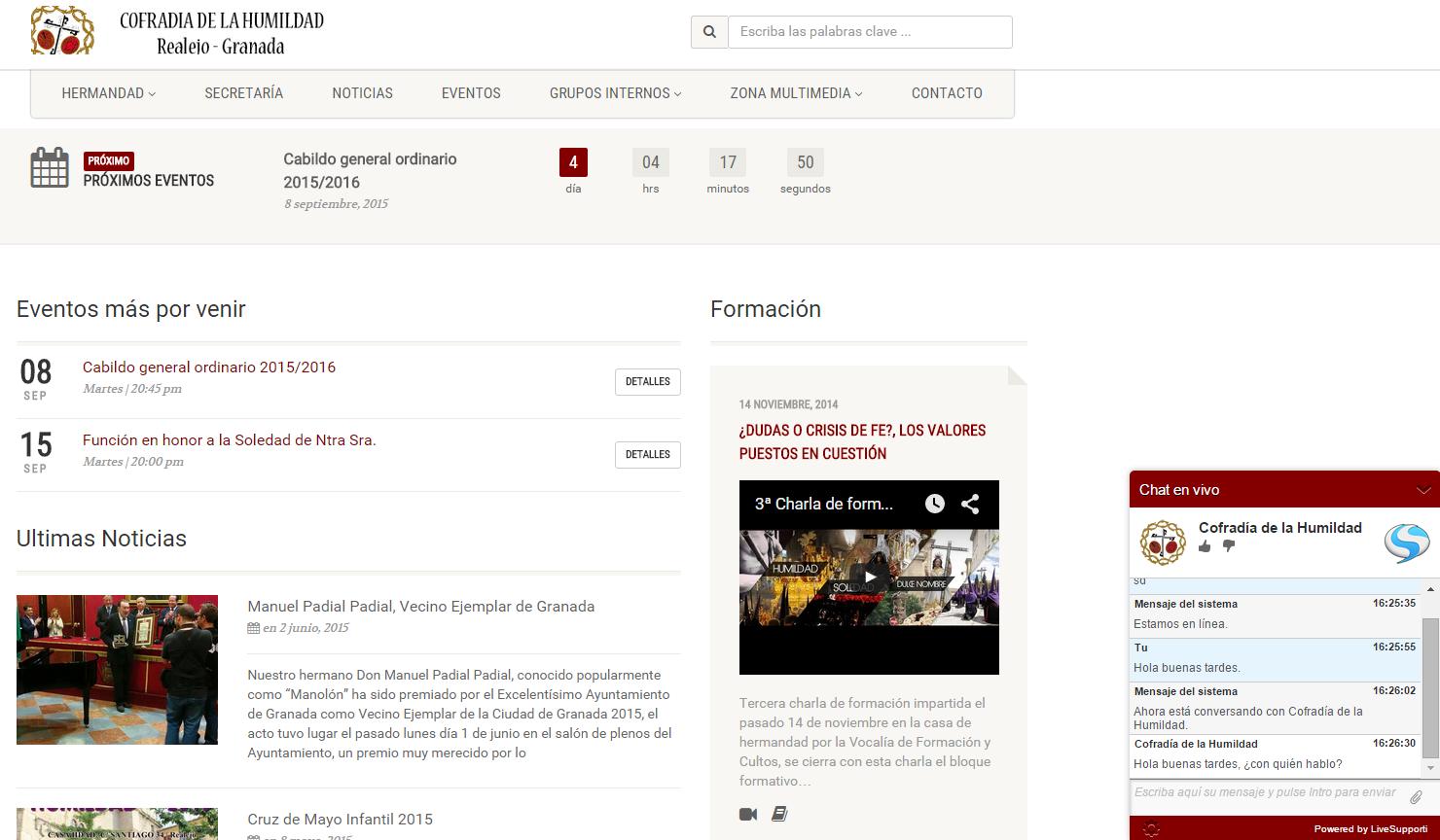 Actualización de la web y aplicación móvil