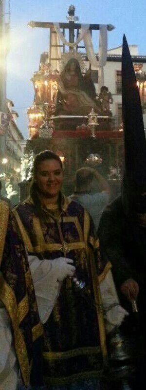 """Celia Cuevas Arrabal, presentadora del cartel """"Martes Santo"""" 2016"""