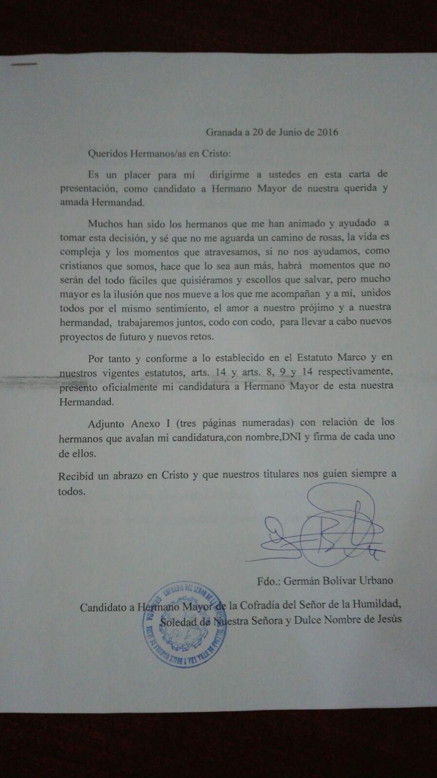 Carta German Bolivar Urbano
