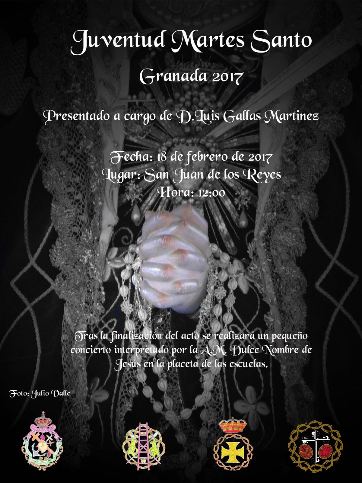 """El 18 de Febrero, presentación del Cartel """"Juventud Martes Santo"""""""