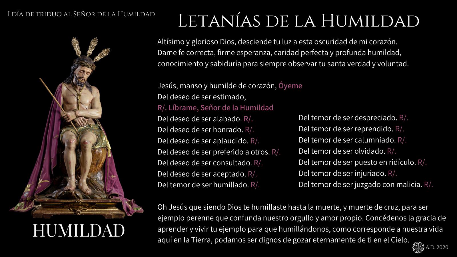 I día de triduo al Señor de la Humildad